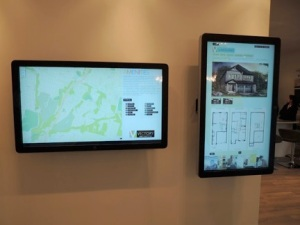 victory's touchscreen displays