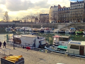 People even live on boats in Paris.