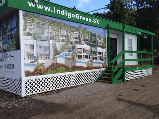 The Indigo Green sales centre in St. Martin.