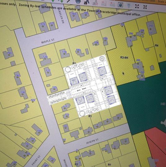 Bracebridge apartments site plan